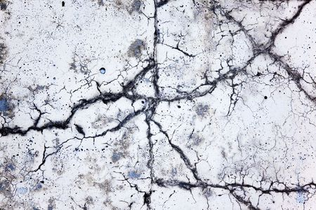 scenic crack in concrete, the conceptual background Stock Photo - 6901122