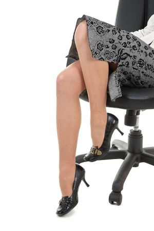 young woman legs in stockings close up photo