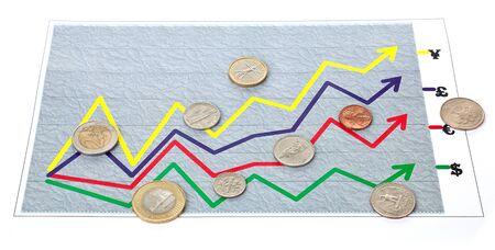 arbitrario: gr�fico arbitraria (diagrama) tipo de cambio en blanco