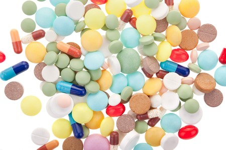 some different pills as a pharmacy background Stock Photo - 7039844