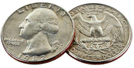 25 cents: coin of 25 cents wery close up