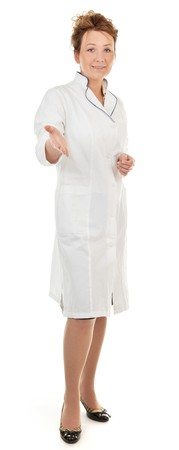 portrait of a woman in the clothing of health workers Stock Photo - 7720351