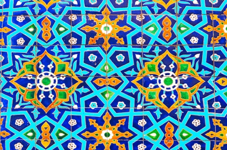 Traditional decoration of ceramics at the mosque in Tashkent (Uzbekistan) Stock Photo - 8893697