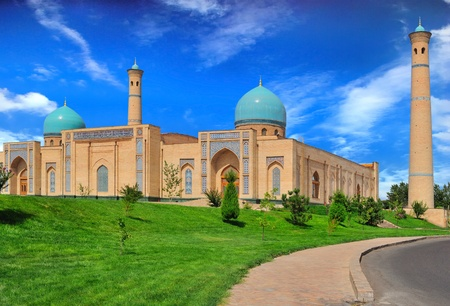 View of a  Khazrat-Imom complex  in Tashkent (Uzbekistan). Banque d'images