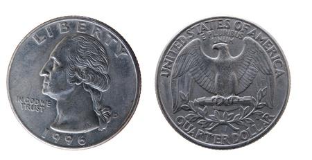 monedas antiguas: diferentes monedas U.S. como un simple fondo Foto de archivo