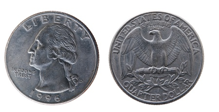 different U.S. coins as a simple background photo