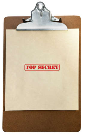 textual: marked top secret on a pile of documents