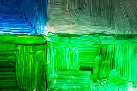 shades: colorful abstraction on glass, lit by solar ray