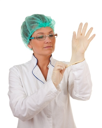 portrait of the medical worker on a white background Stock Photo - 10202394