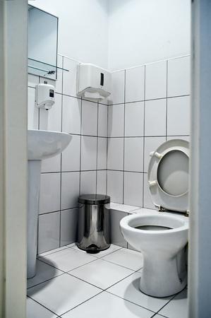 unrecognizable simple inters toilet in gray color Stock Photo - 10507851