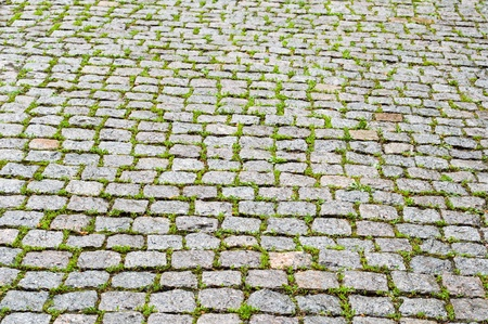 cobble stone pavers as a background Stock Photo