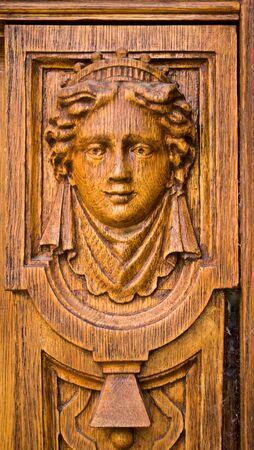 details of the old wooden door decoration Stock Photo - 10507759