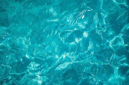 glare: sun glare in the clear water basin Stock Photo