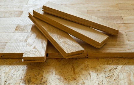 wood flooring: parquet boards, executed from an oak, by CU Stock Photo