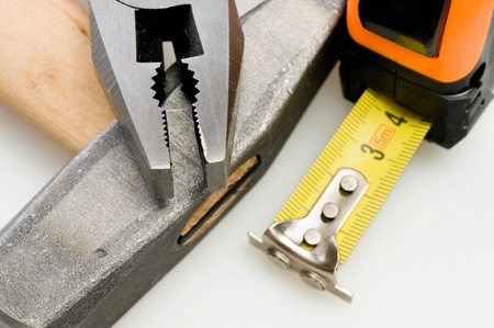 unskilled worker: a lot of instruments  close-up (macro) Stock Photo