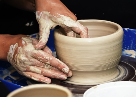 sculpt: The process of creating pottery by hand