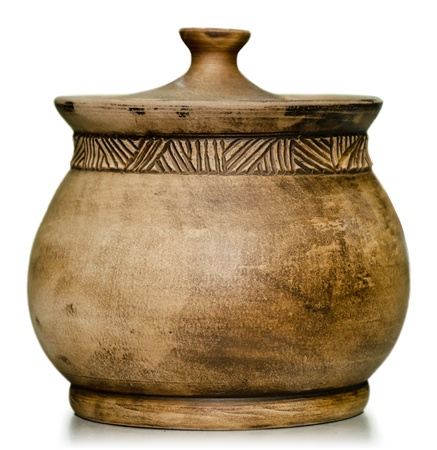 clay pot: Pottery jars still life, product ready for sale
