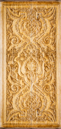 art of wood carving. Details threads. Stock Photo - 10922865