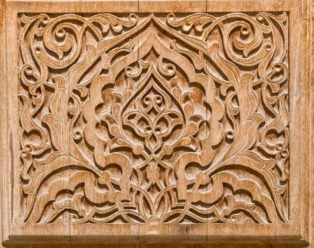 intricate: art of wood carving. Details threads.