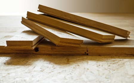 hardwood: parquet boards, executed from an oak, by CU Stock Photo