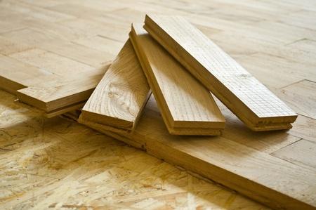 parquet floors: tavole di parquet, eseguiti da una quercia, da CU