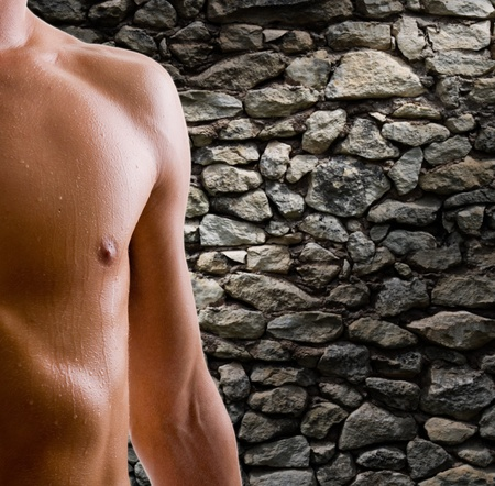 shoulder and arm naked male body (an athlete) Stock Photo - 10922914