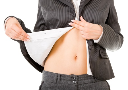 nude girls stomach, relieving office clothes Stock Photo - 10922906