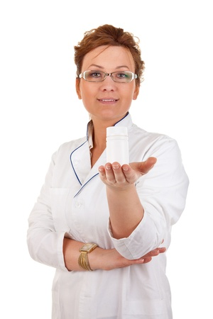 portrait of the medical worker on a white background Stock Photo - 10922998