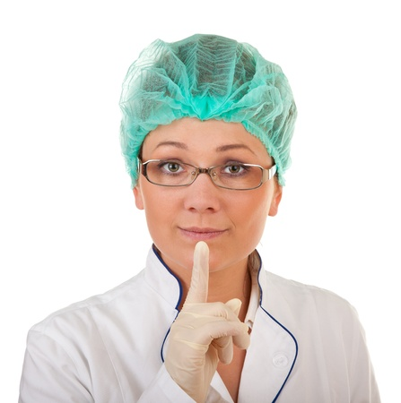 portrait of the medical worker on a white background photo