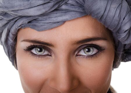 Portrait of glamorous woman in a turban photo