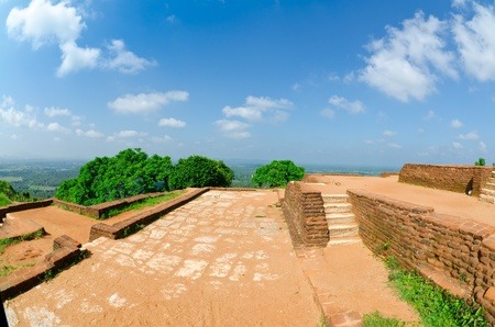 Sigiriya ( Lion's rock ) is a large stone and ancient palace ruin in the central  Sri Lanka Stock Photo - 11904754