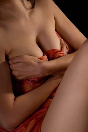 female body on a black background Stock Photo - 11854864