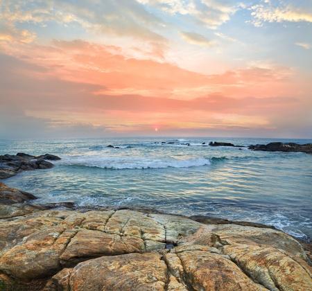 Mystic coast sunset on a tropical Islands Banque d'images