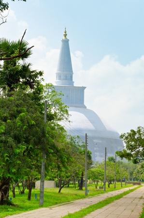Ruwanwelisaya Chedi in the sacred city of Anuradhapura, Sri Lanka, also known as Mahathupa and Rathnamali Dagoba  photo