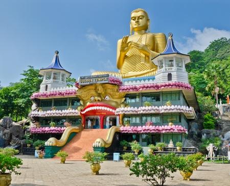 Golden Temple in Dambulla, Sri Lanka, 07 12 2011  Dambulla city has best preserved cave temple complex of Sri Lanka
