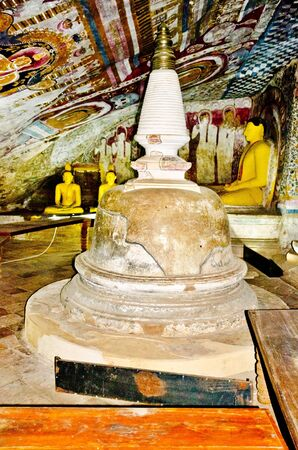 interior of royal rock temple in Dambulla, Sri lanka, 07 12 2011