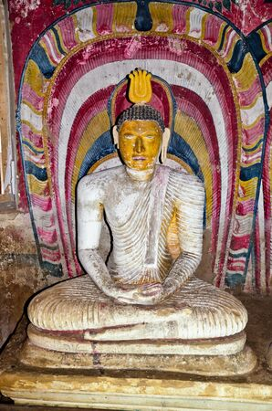 interior of royal rock temple in Dambulla, Sri lanka, 07 12 2011 photo