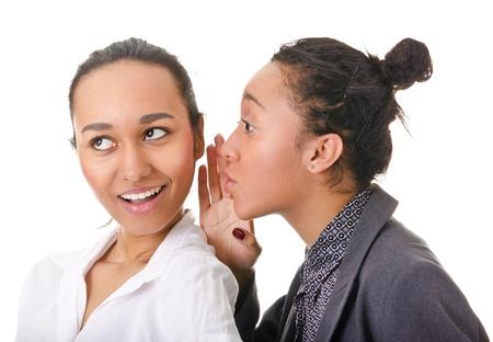 Portrait de deux femmes à la peau foncée sur fond blanc Banque d'images - 12565720