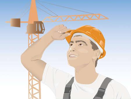 portrait of a male worker Eastern Vector