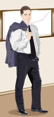 portrait of a businessman Stock Vector - 12479789
