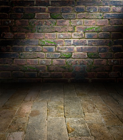 Artistic interiors - a scene with a stone floor Stock Photo - 13250201