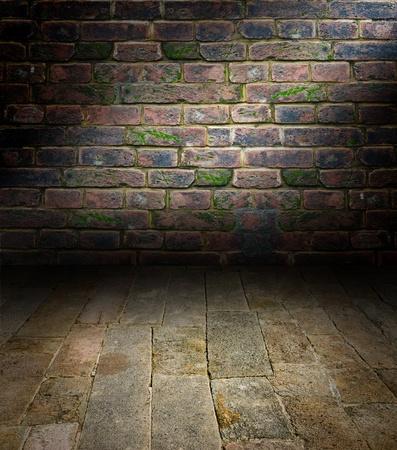 piso piedra: Interiores art�sticos, una escena con un suelo de piedra Foto de archivo