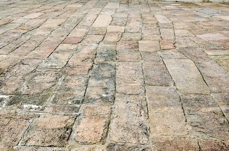 lajas: una calzada de piedra antigua, plante� la formaci�n art�stica