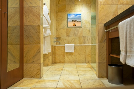 floor tiles: bathroom interior Stock Photo