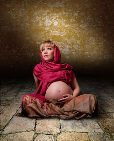portrait of a pregnant woman waiting for the unborn child Stock Photo - 13262697