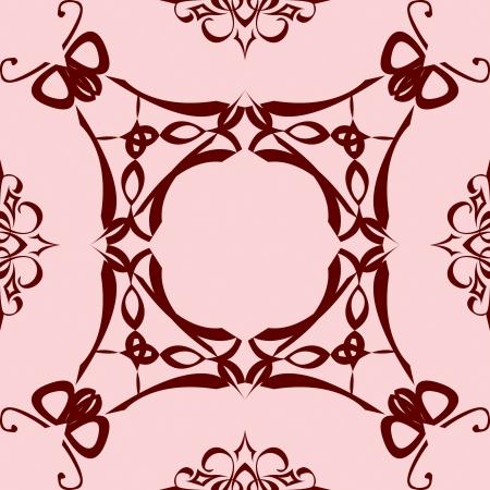 revivalism: abstract flies ornament