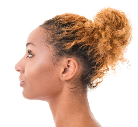 profile of a young woman multi ethnic race photo
