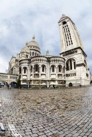 basillica: PARIS, FRANCE - APRIL 10  Rear view of the Sacre Coeur on april 10, 2013 in Paris, France