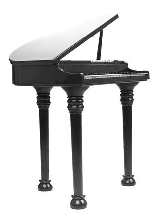a grand piano: model of a concert grand piano, isolated on white background Stock Photo