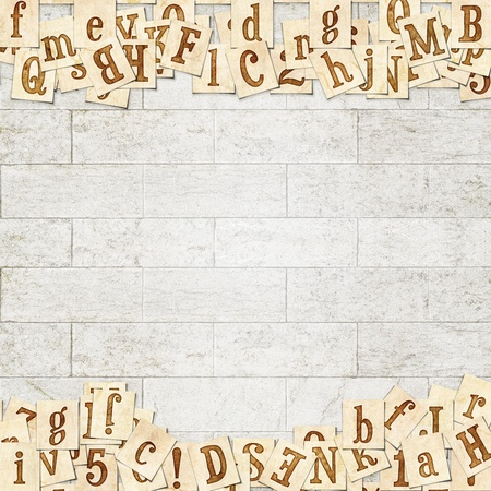 Vintage background with the lettersVintage wooden background with the word Stock Photo - 21638858